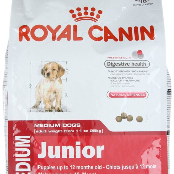 royal canin medium junior dog food 1kg nappets. Black Bedroom Furniture Sets. Home Design Ideas