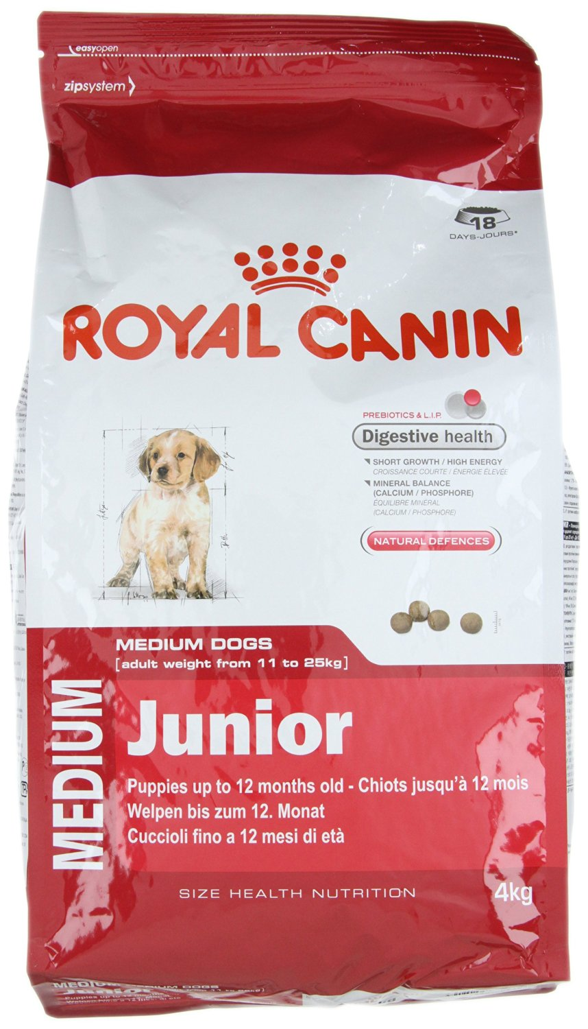 royal canin medium junior dog food 4 kg nappets. Black Bedroom Furniture Sets. Home Design Ideas