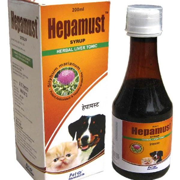 Pet Mankind Hepamust Syrup Herbal Liver Tonic For Dog And