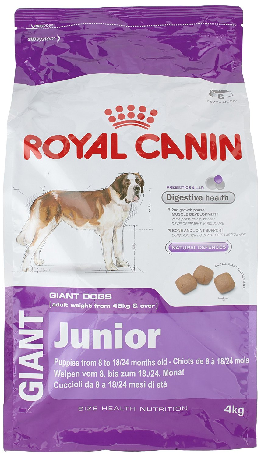 royal canin giant junior dog food 4kg nappets. Black Bedroom Furniture Sets. Home Design Ideas