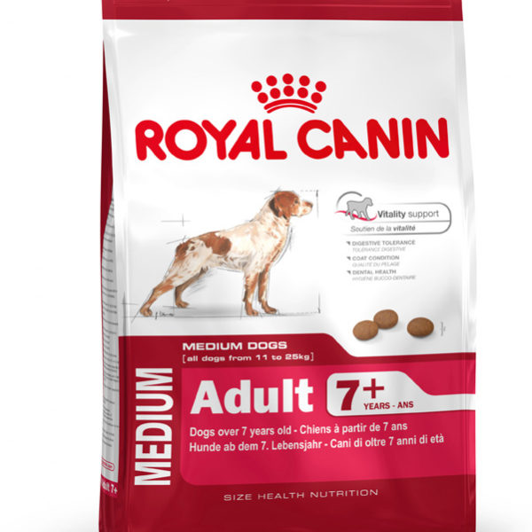 royal canin medium adult 7 dog food 4kg nappets. Black Bedroom Furniture Sets. Home Design Ideas